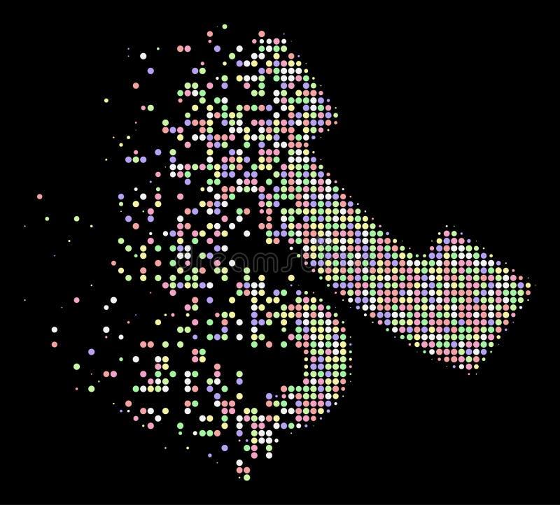 光被消散的Pixelated半音公用电话电话象 库存例证