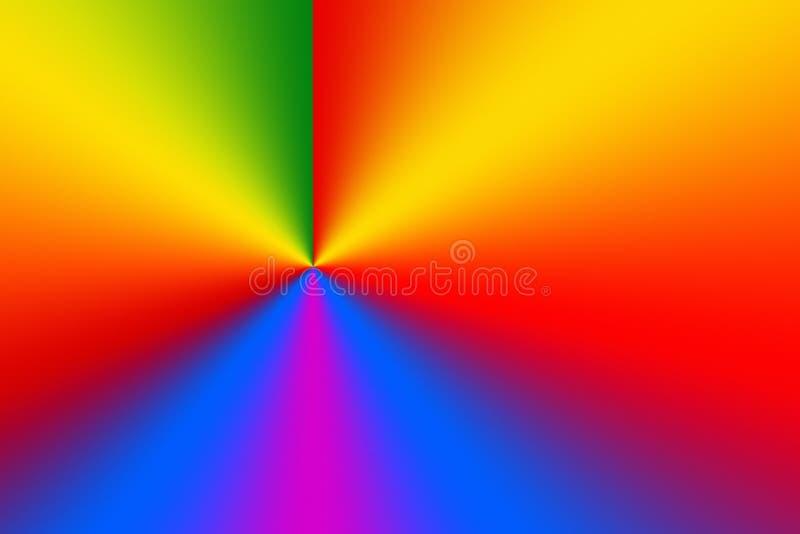 光谱三原色圆形图辐形梯度背景 额外非常微粒为完善的梯度打印机智 皇族释放例证