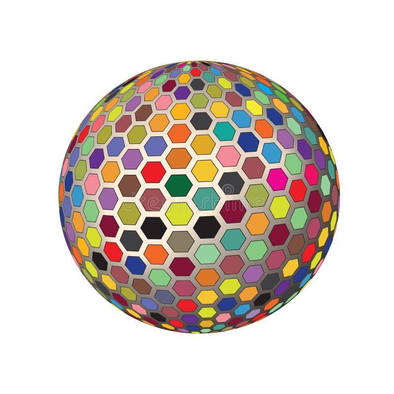 光谱五颜六色的镶边的3D回报世界地球传染媒介背景Illustration_1 库存例证