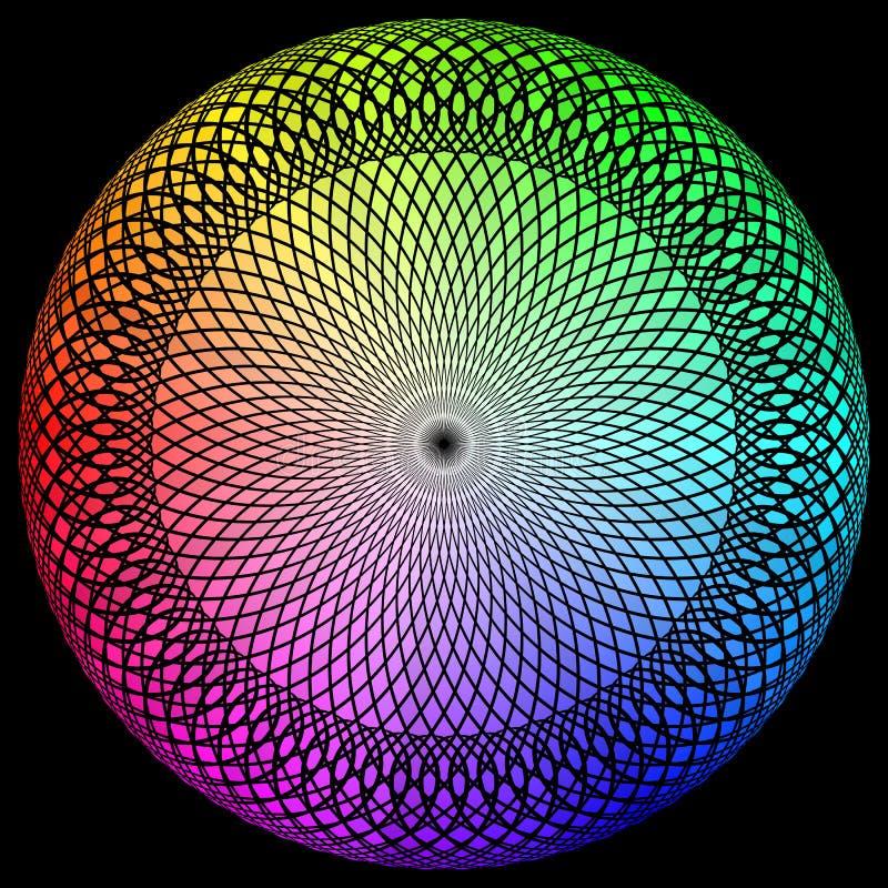 光谱旋转 向量例证