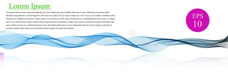 光谱波浪颜色 抽象波浪传染媒介背景,小册子的,网站,飞行物设计色的挥动的线 波浪 库存例证