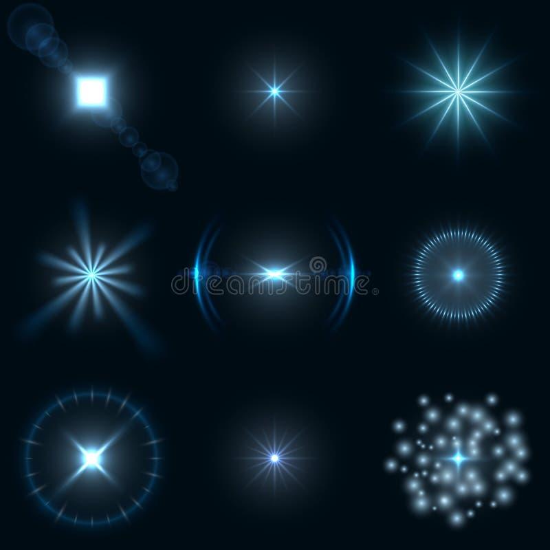 光透镜火光集合 库存例证