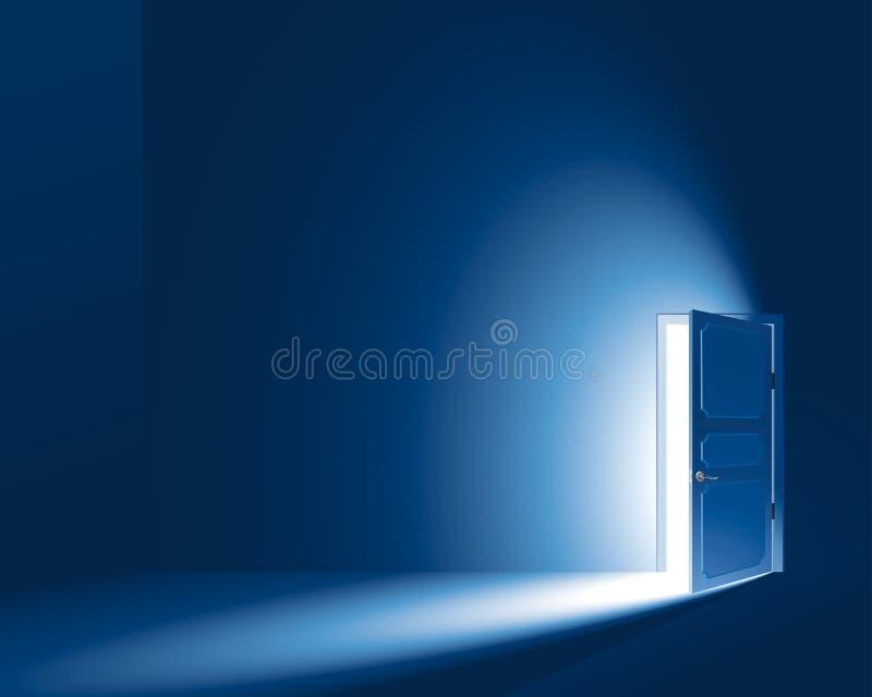 光通过门 向量例证