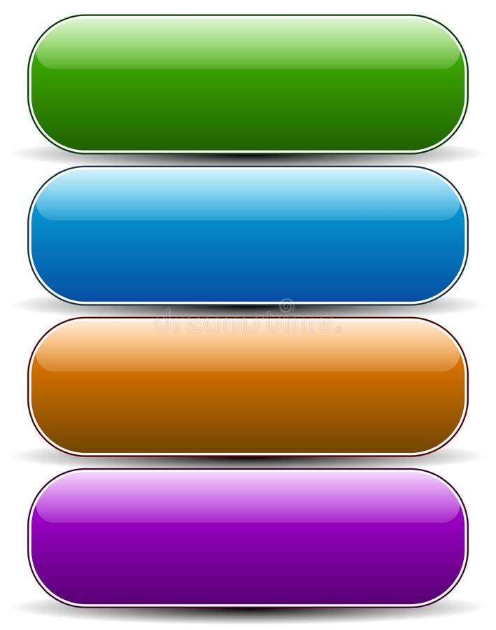 光滑倒空被环绕的按钮,横幅背景 库存例证