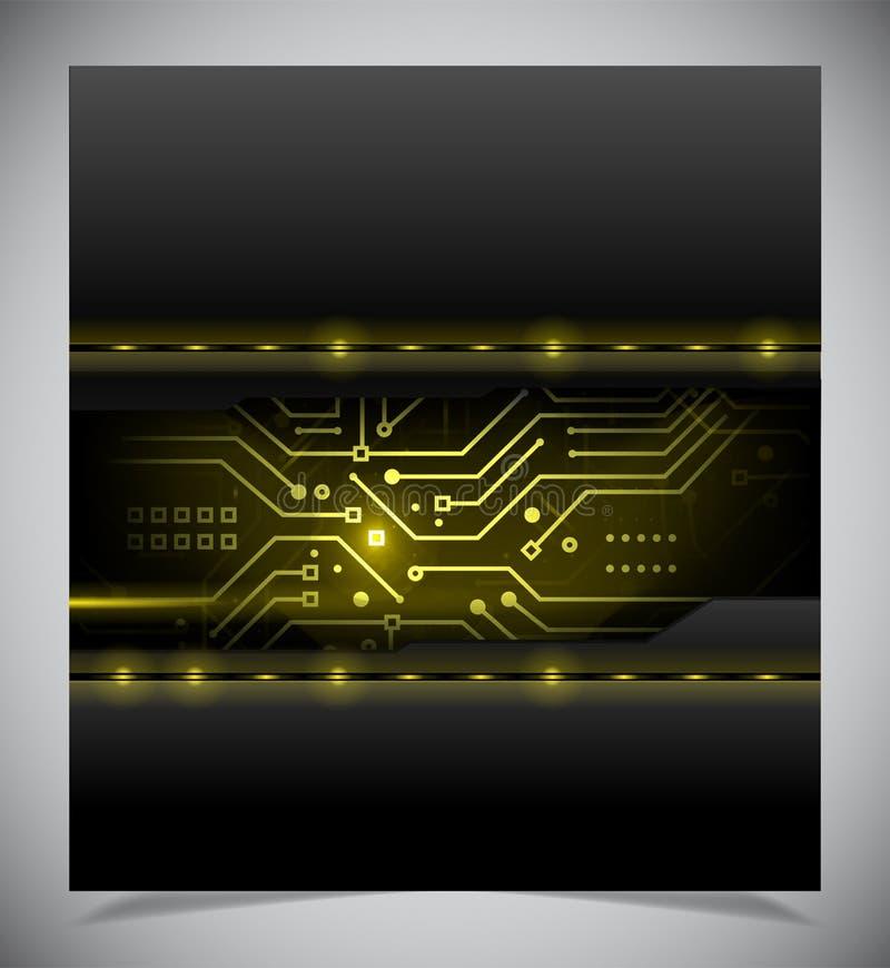 光滑的五颜六色的抽象techno背景 向量例证