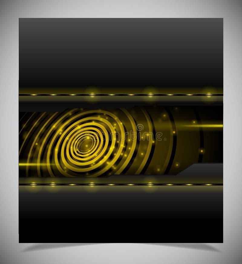 光滑的五颜六色的抽象techno背景 皇族释放例证