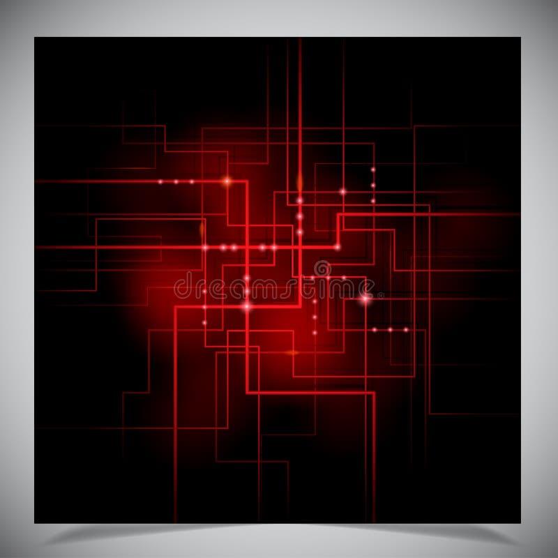光滑的五颜六色的抽象techno背景 库存例证