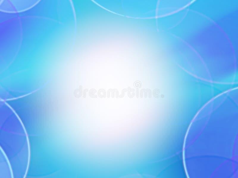 光滑的梯度背景,蓝色 库存例证