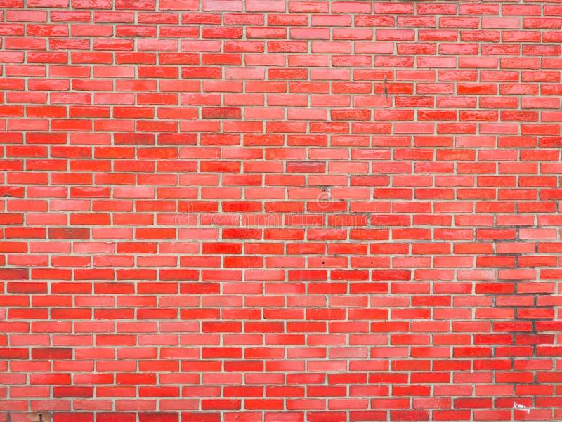 光滑的红砖墙壁 库存照片