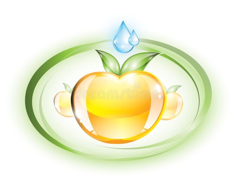 光滑的苹果 向量例证