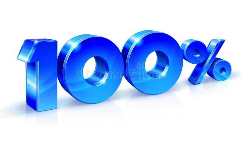 光滑的蓝色90百分之九十,销售 隔绝在白色背景, 3D对象 皇族释放例证