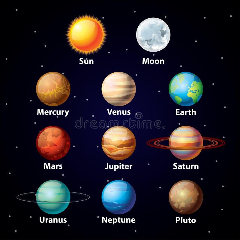 光滑的行星传染媒介集合 库存例证
