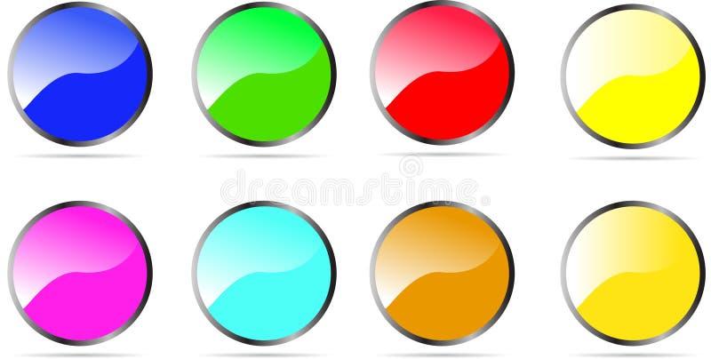 光滑的被环绕的按钮 皇族释放例证