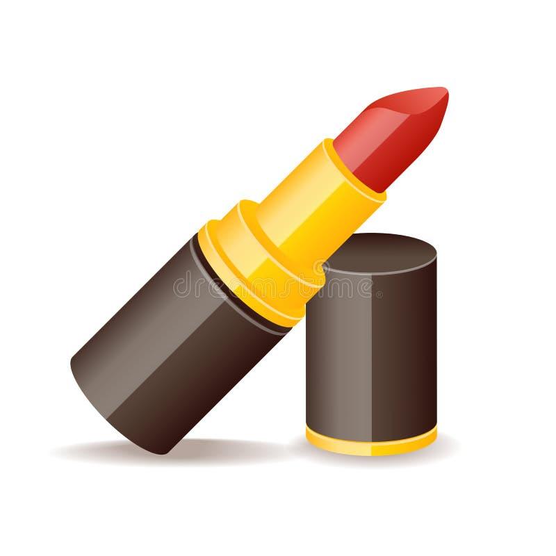 光滑的象化妆用品时尚秀丽唇膏 向量例证