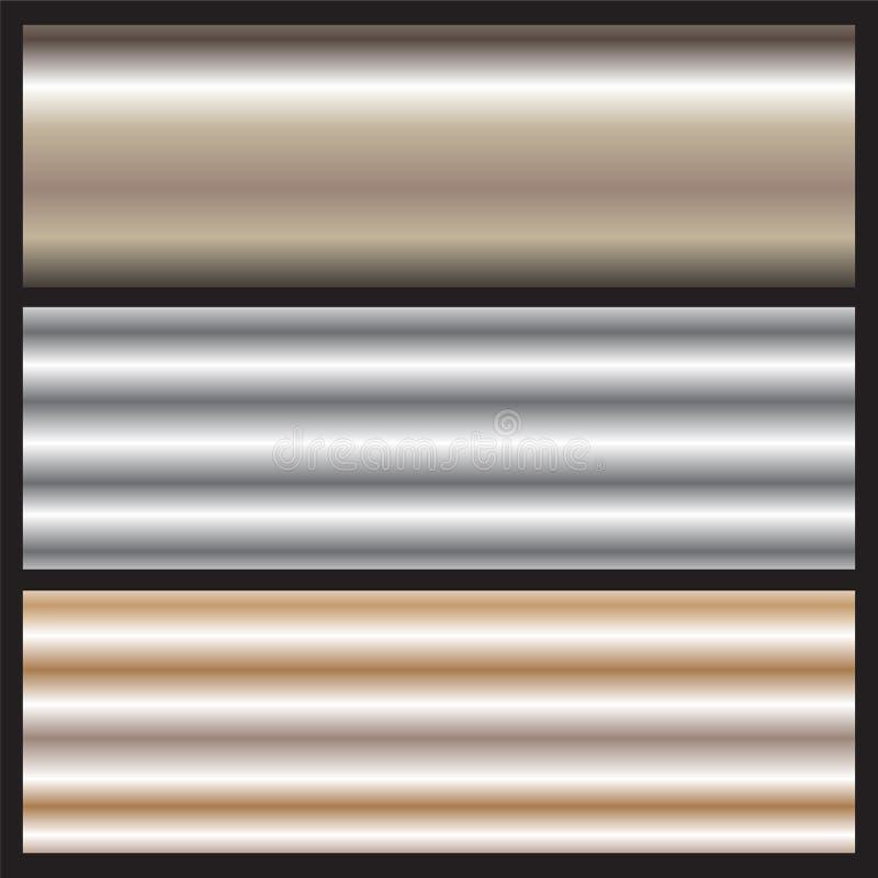 光滑的金属曲面背景 向量例证