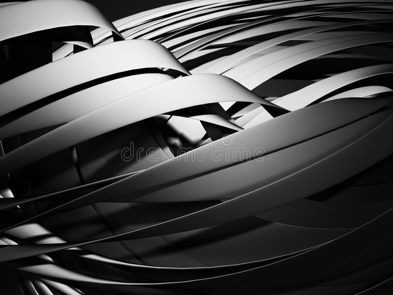 光滑的金属黑暗的银色背景 向量例证