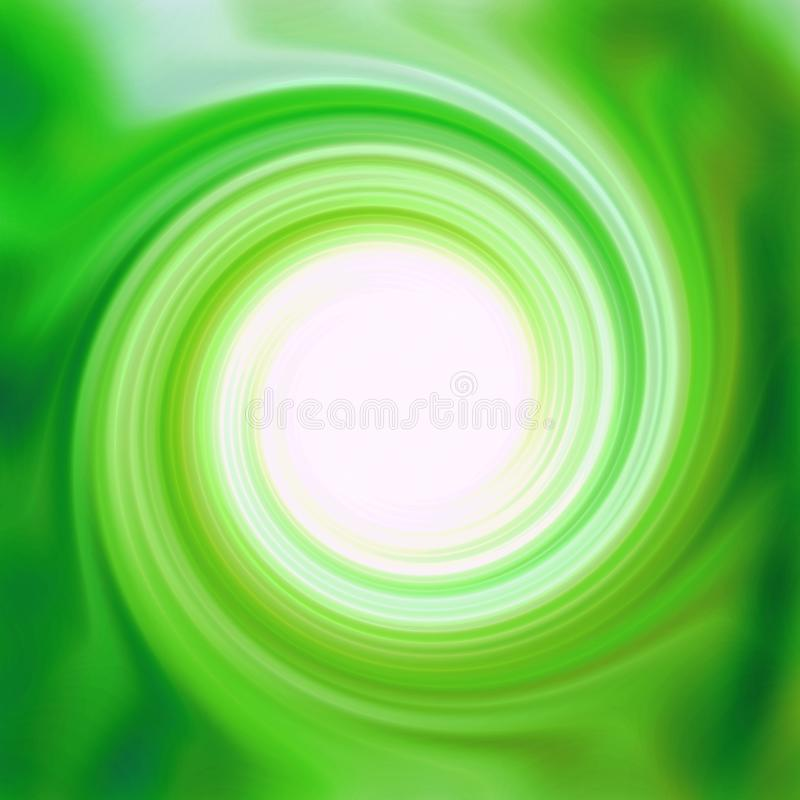 光滑的绿色漩涡 库存例证