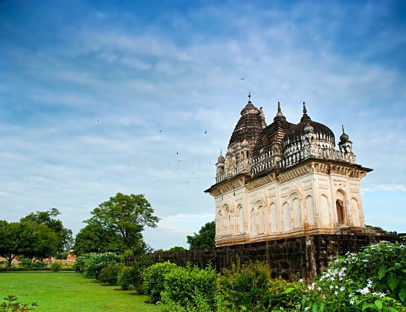 克久拉霍著名寺庙是一个大小组中世纪喂 库存照片