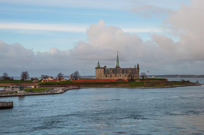 克伦堡城堡在丹麦 库存图片