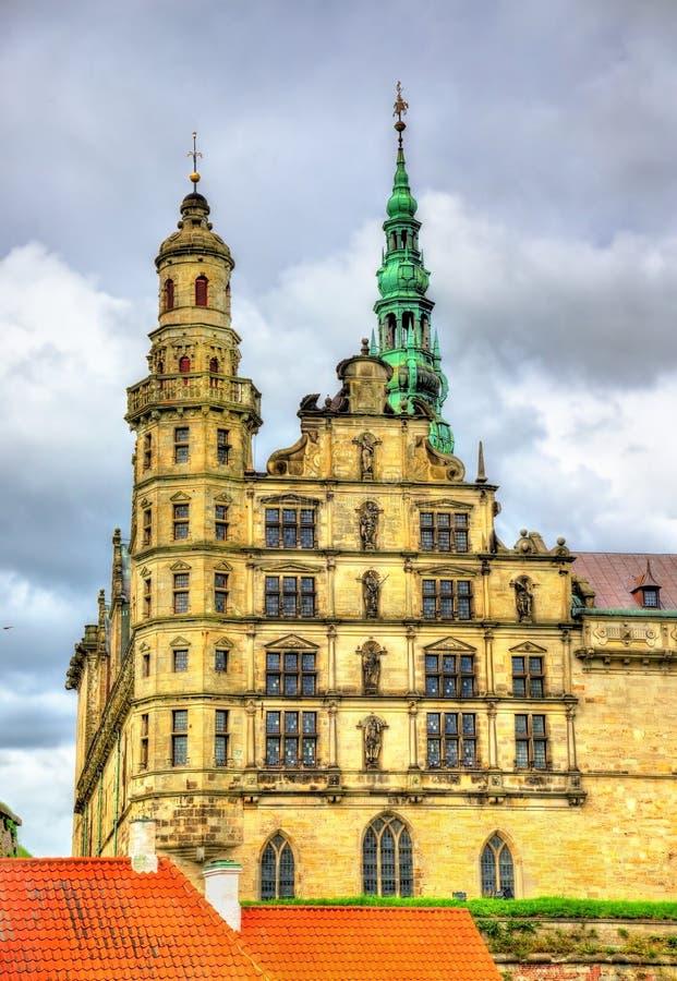 克伦堡城堡,叫作在哈姆雷特-丹麦的悲剧的Elsinore 图库摄影
