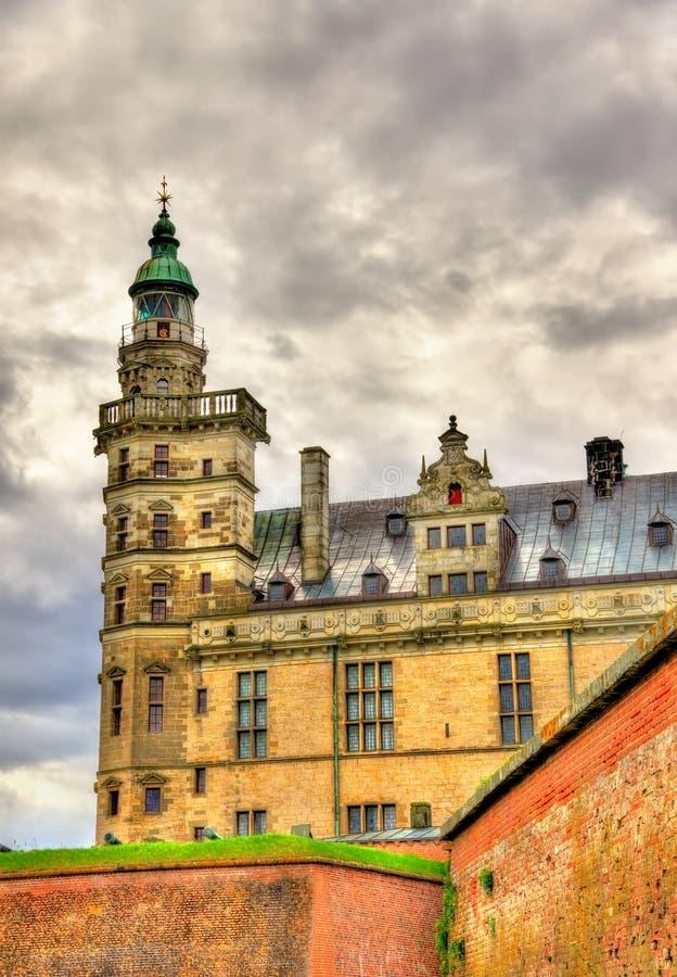 克伦堡城堡,叫作在哈姆雷特-丹麦的悲剧的Elsinore 免版税库存图片