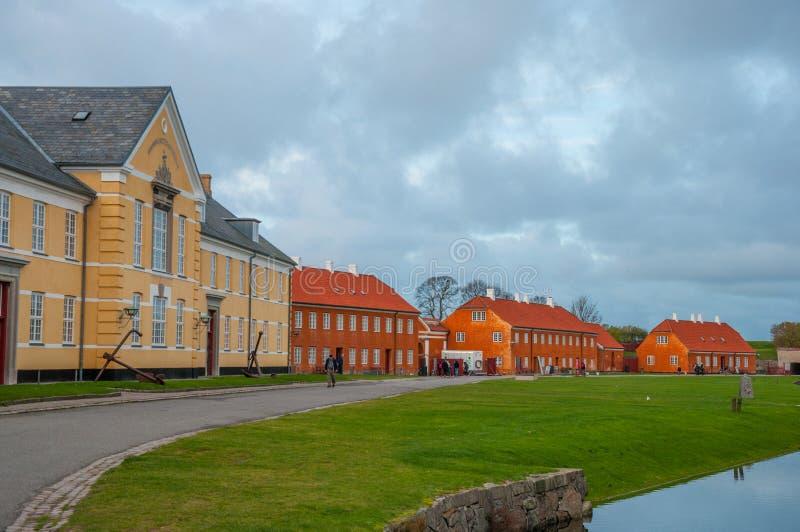 克伦堡是一个前丹麦军事基地 库存照片