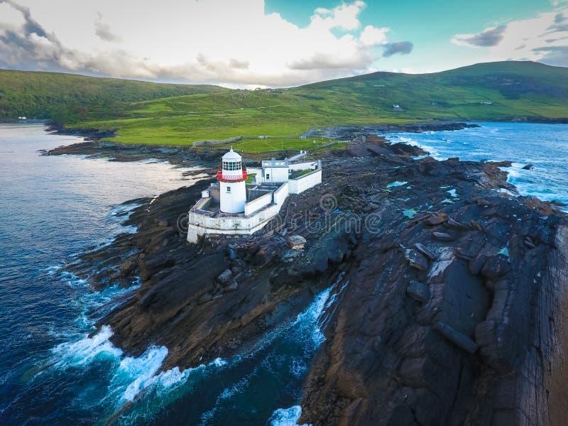 克伦威尔灯塔 瓦伦西亚岛 爱尔兰 库存图片