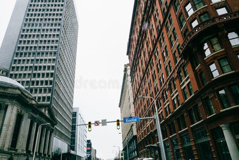 克利夫兰街市俄亥俄 免版税库存图片