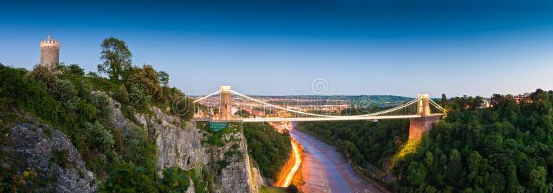 克利夫顿吊桥,英国 库存图片