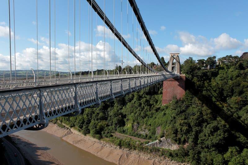 克利夫顿在Avon峡谷的吊桥在布里斯托尔 库存照片