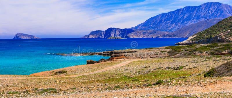 克利特海岛的美好的unspoileld本质 在希腊se的旅行 图库摄影