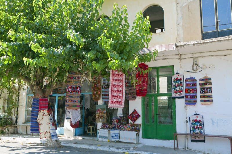 克利特海岛的Anogia村庄在希腊 免版税库存图片