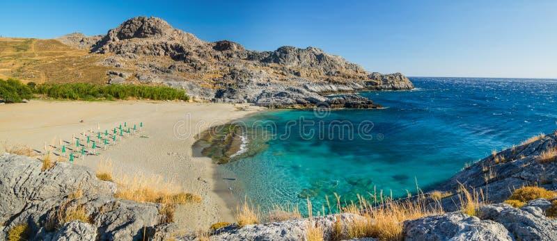 克利特海滩,希腊 图库摄影