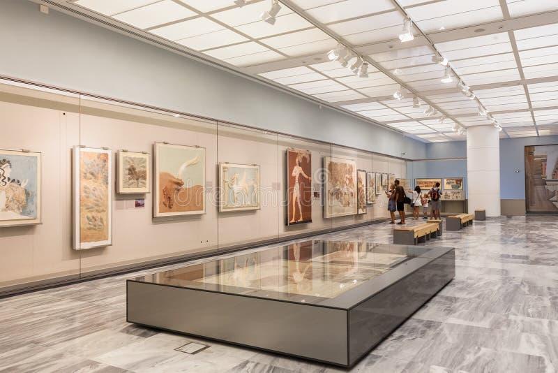 克利特的,希腊伊拉克利翁考古学博物馆 库存照片