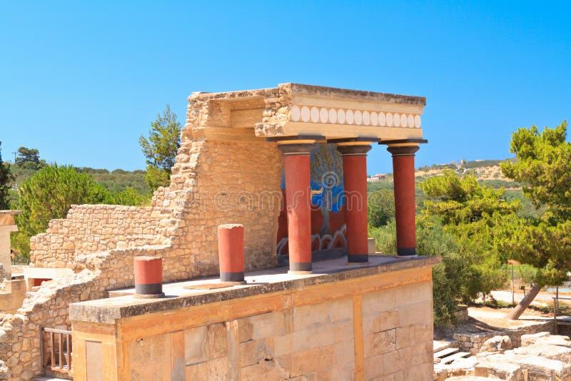 克利特的Knossos宫殿 免版税库存照片