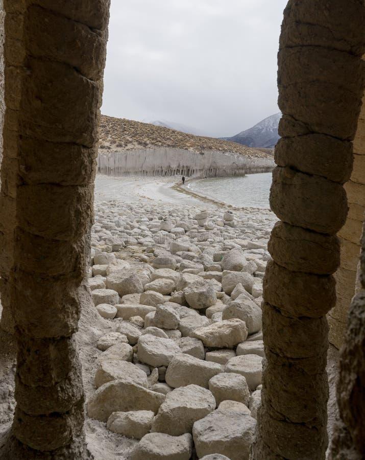 克劳利专栏是惊人和美丽的,创造由火山岩 免版税库存图片