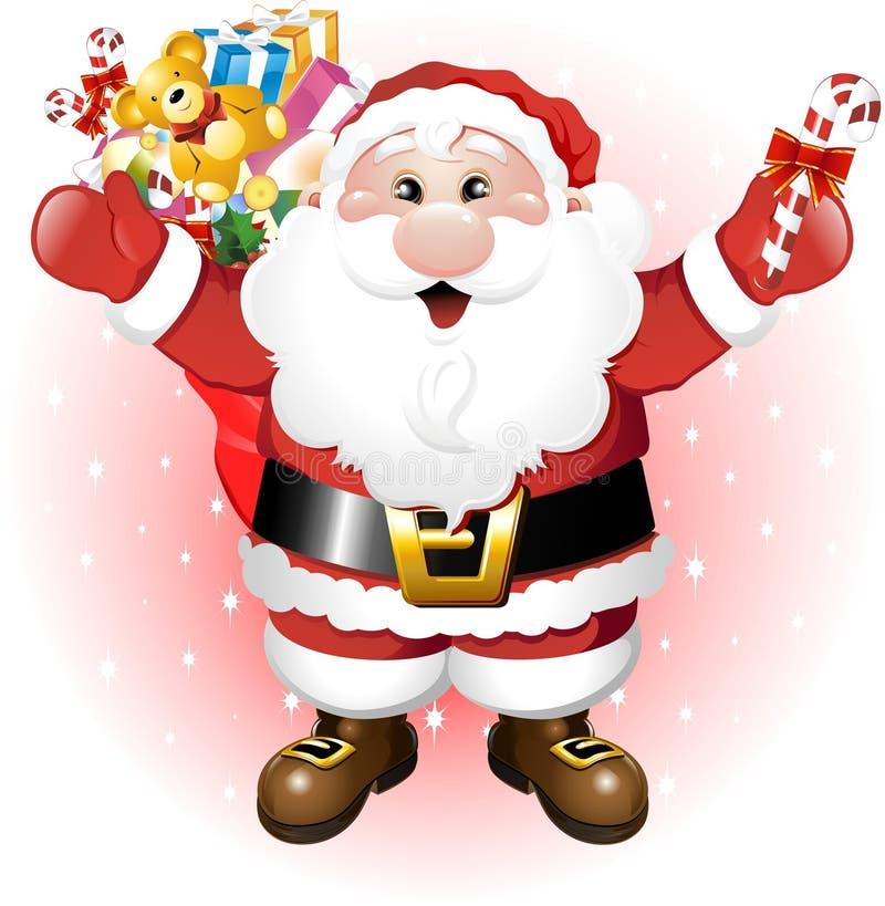 克劳斯・圣诞老人玩具 皇族释放例证