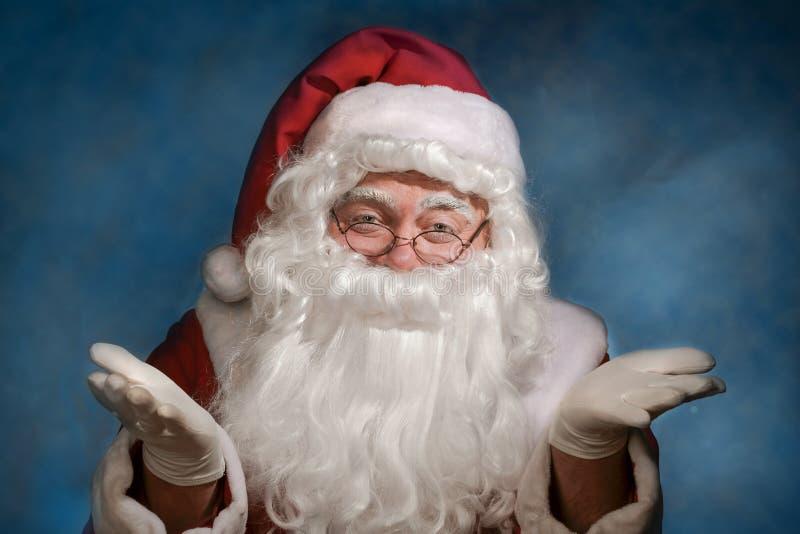克劳斯圣诞老人打手势 免版税库存照片