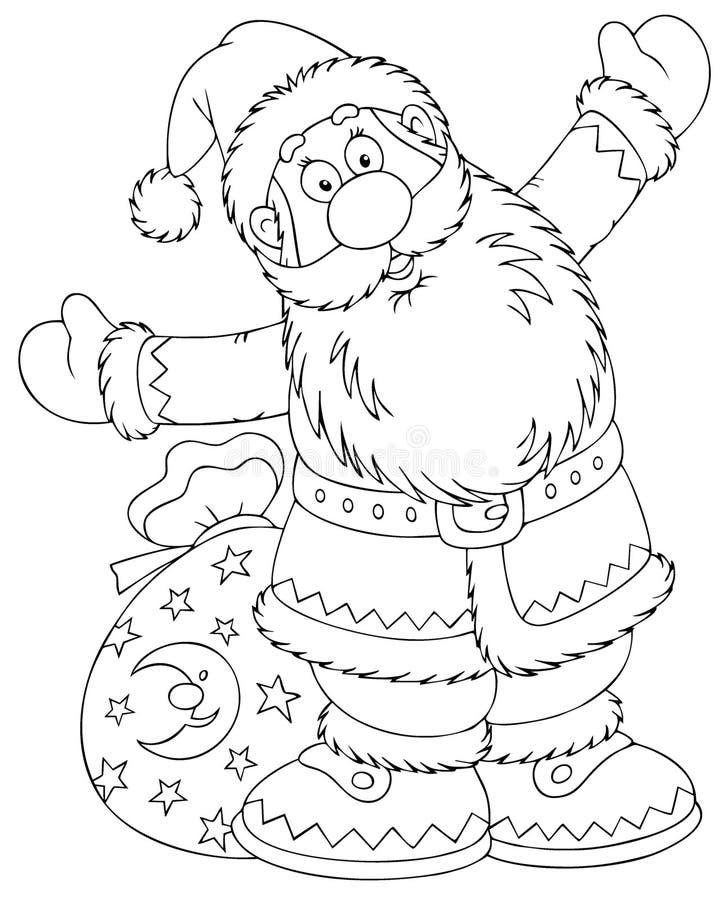 克劳斯大袋圣诞老人玩具 库存例证