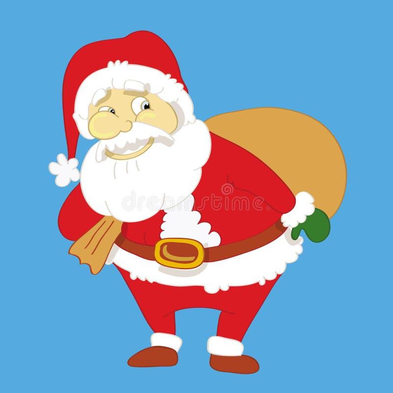 克劳斯大袋圣诞老人 向量例证