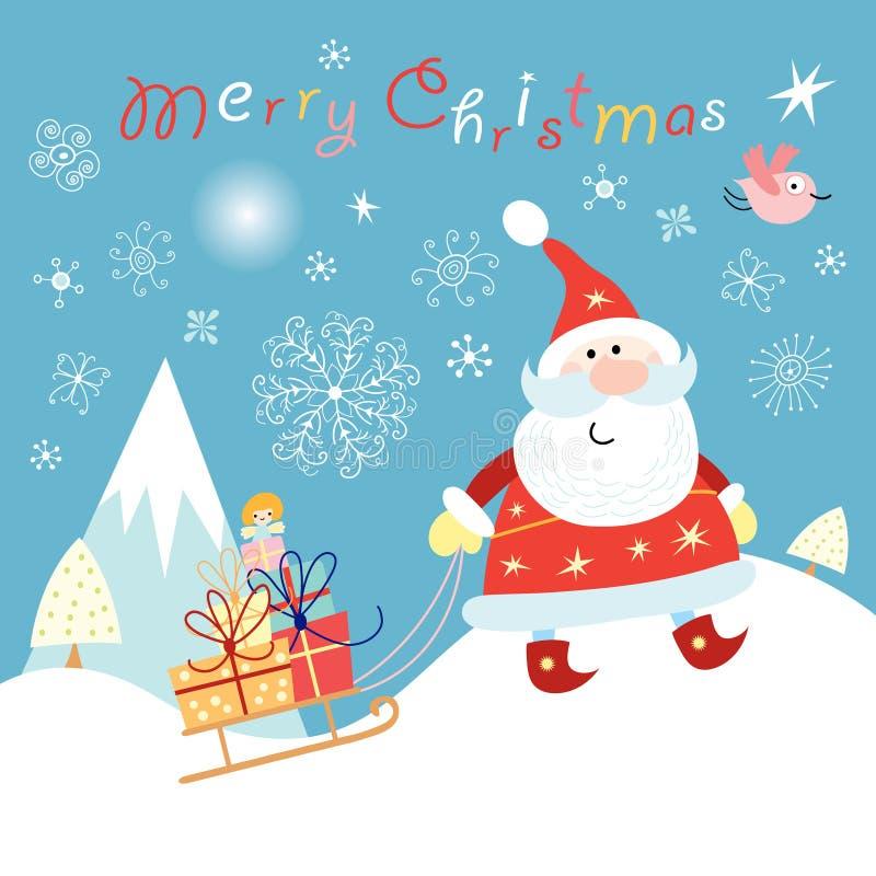 克劳斯快活的圣诞老人 向量例证
