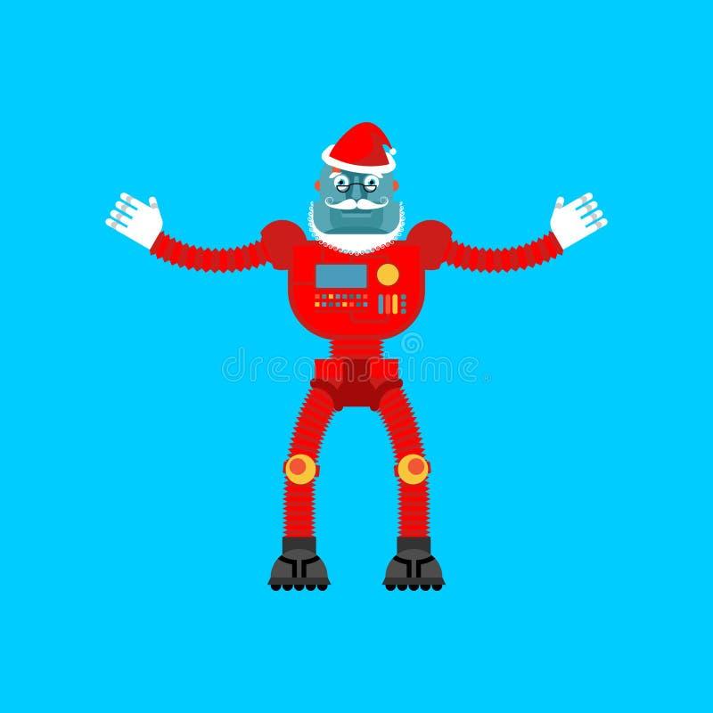 克劳斯机器人圣诞老人 圣诞节的机械靠机械装置维持生命的人祖父 皇族释放例证