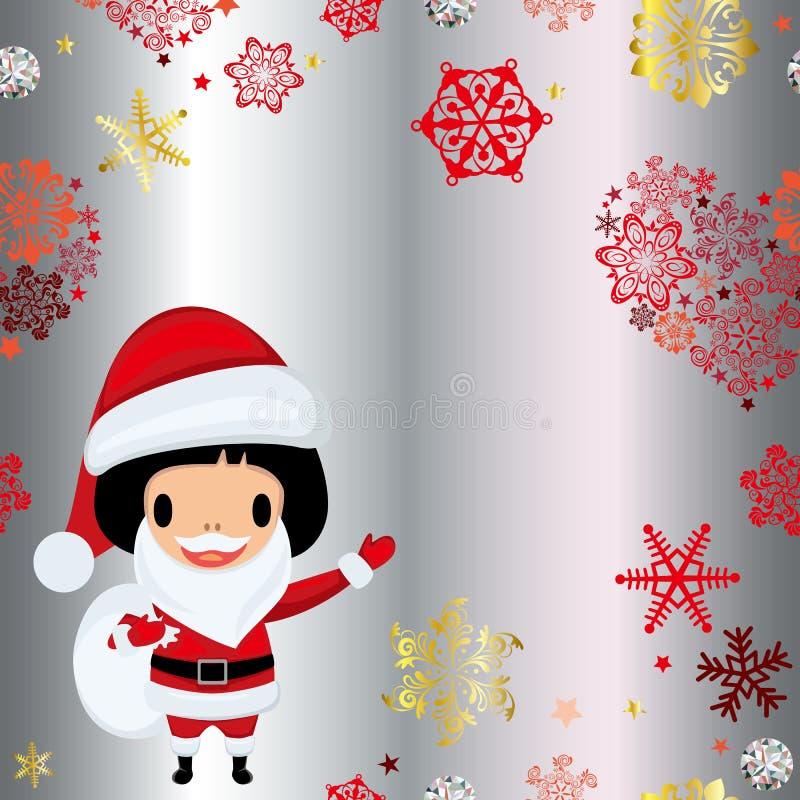 克劳斯框架圣诞老人 皇族释放例证