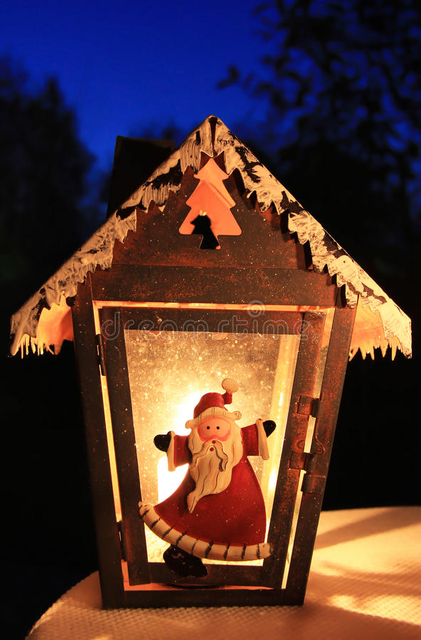 克劳斯灯笼圣诞老人 免版税库存图片