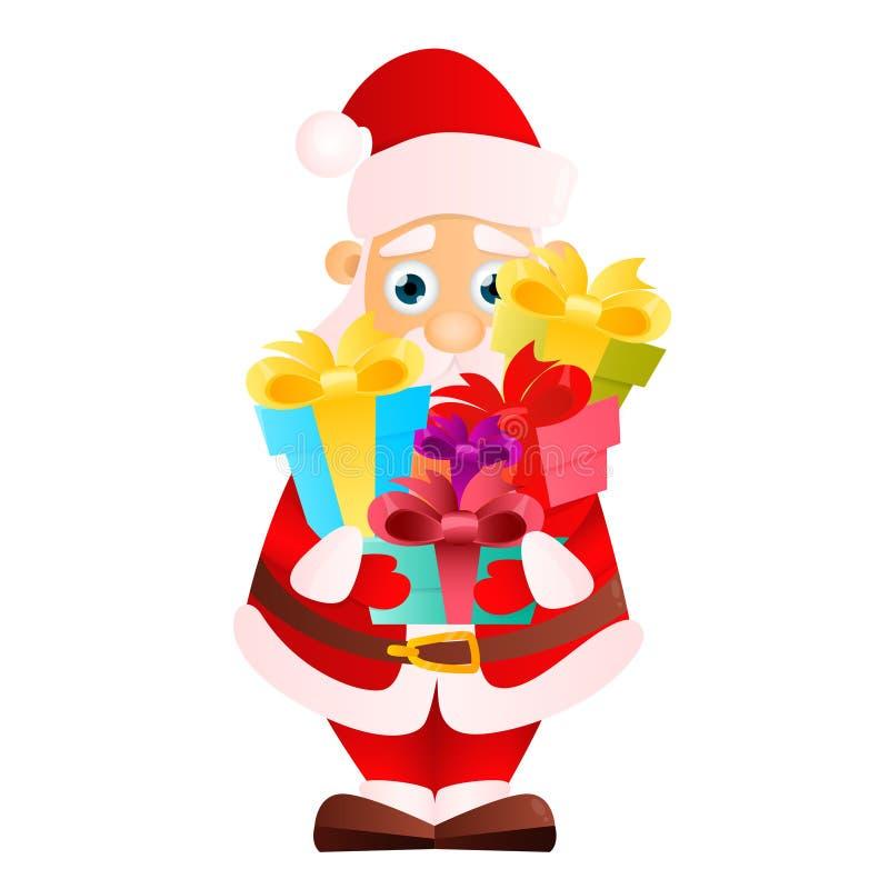 克劳斯礼品圣诞老人 向量例证