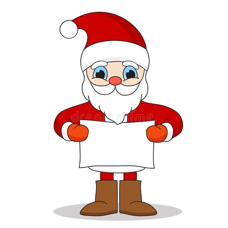 克劳斯藏品纸张圣诞老人页 皇族释放例证