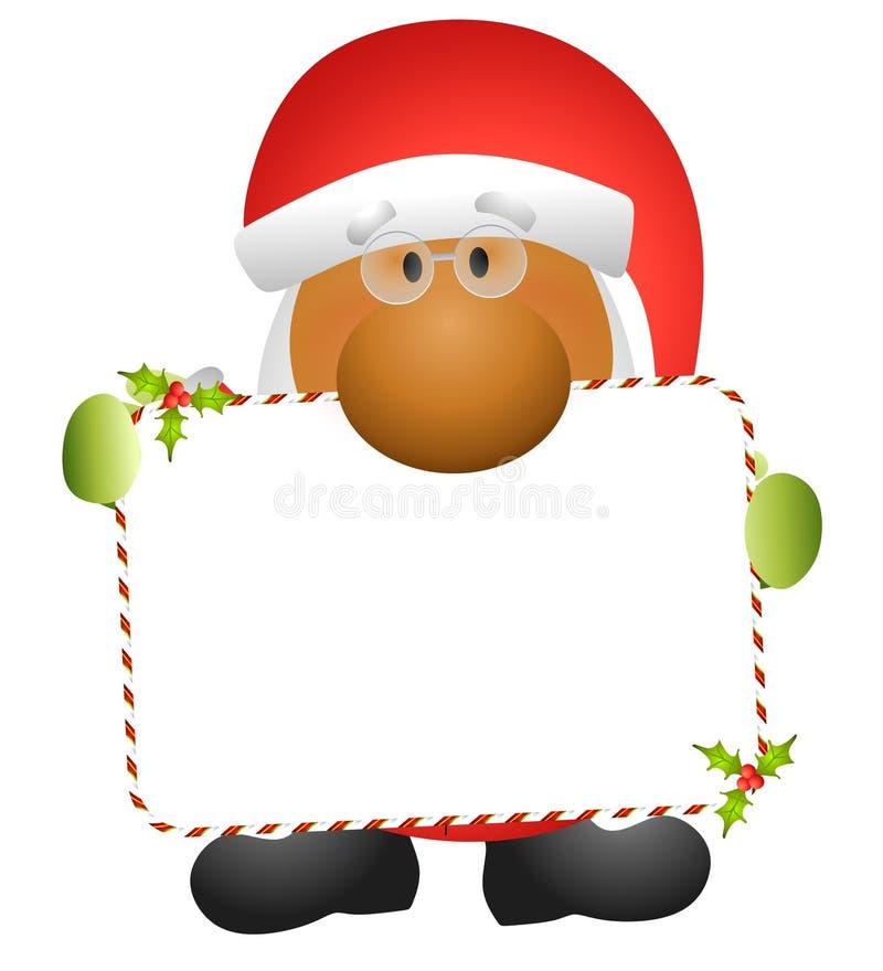 克劳斯藏品附注圣诞老人 向量例证