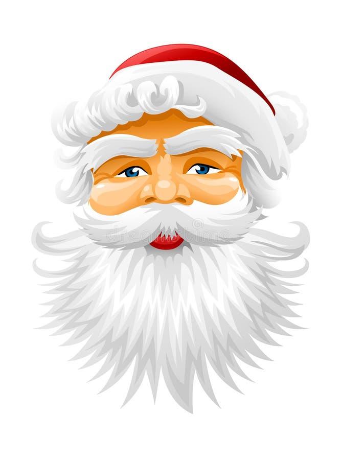 克劳斯表面圣诞老人向量 库存例证