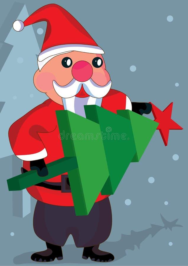 克劳斯装饰eps圣诞老人结构树 库存例证