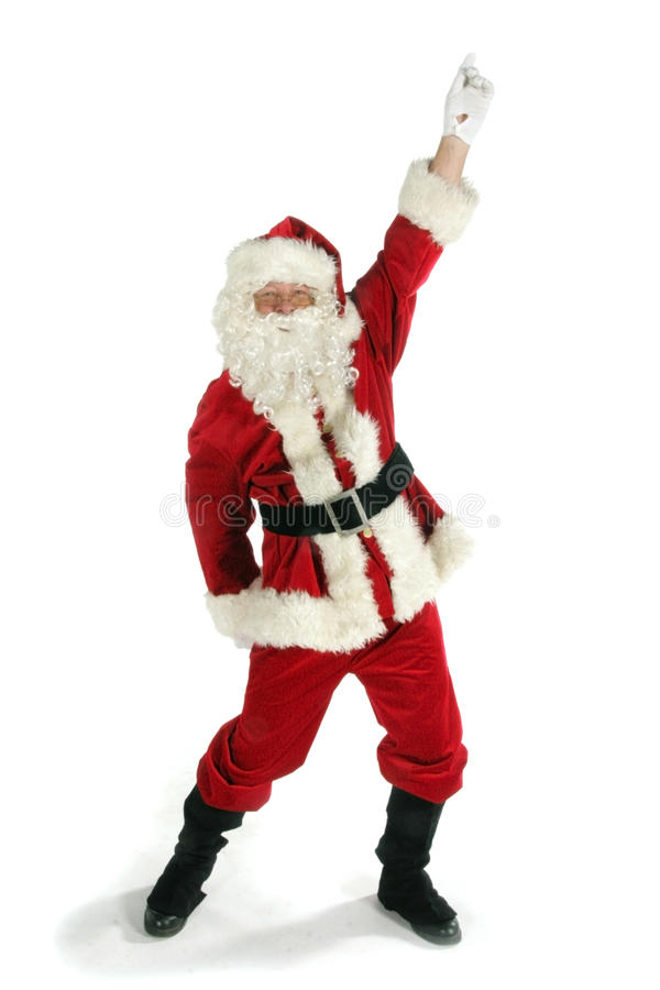克劳斯跳舞圣诞老人 免版税库存照片